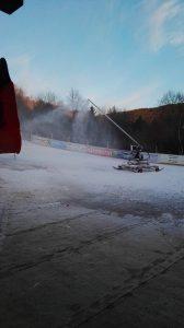 Unsere Schneekanone sorgt für genügend Schnee!